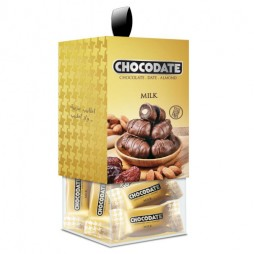 Финики в шоколаде - коробка молочный шоколад (200г)