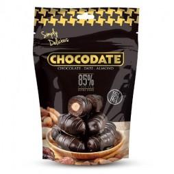 Финики в шоколаде - темный шоколад 85% (250г)